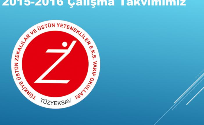 2015 2016 Eğitim Öğretim Yılı Çalışma Takvimimiz